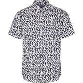 Johan Exotic Short Sleeve Shirt in White and Blue