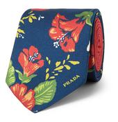 7cm Printed Silk-Twill Tie in Multicoloured