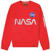 Alpha Industries NASA Reflective Crew Sweat in Red