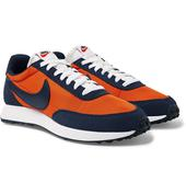 Air Tailwind 79 Shell, Suede and Leather Sneakers in Orange and Navy