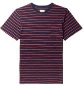 Striped Cotton-Jersey T-Shirt in Red