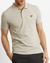 Slim Stretch Polo Shirt in Grey