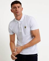 Slim Stretch Polo Shirt in White