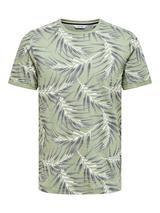 Slim Fit Short Sleeve Printed Tee in Green