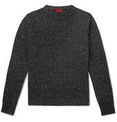 Donegal Cashmere-Blend Sweater in Grey
