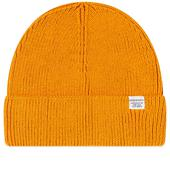 Norse Projects Norse Cotton Watch Beanie in Orange