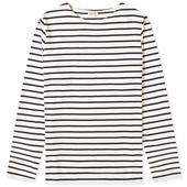 Armor-Lux Long Sleeve 73792 Mariniere Tee in Neutral and Navy