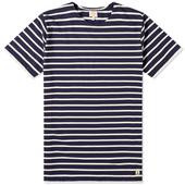 Armor-Lux 73842 Mariniere Tee in White and Navy