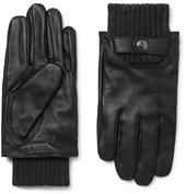 Buxton Touchscreen Leather Gloves in Black