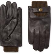 Buxton Touchscreen Leather Gloves in Brown