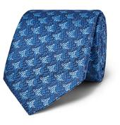 7.5cm Silk-Jacquard Tie in Blue