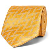 8.5cm Silk-Jacquard Tie in Yellow
