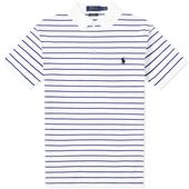 Polo Ralph Lauren Slim Fit Stripe Polo in White