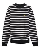Breton Stripe Sweatshirt in Black and White