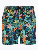 Quick Dry Floral Print Swim Shorts in Multicoloured