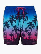 Quick Dry Dip Dye Print Swim Shorts in Multicoloured