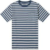Patagonia Organic Cotton Midweight Pocket Tee in White and Navy