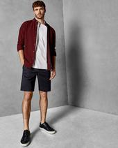 SELSHOR Cotton chino shorts in Navy