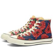 Converse Chuck Taylor 1970s Hi in Red and Navy