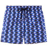 Moorea Mid-Length Printed Swim Shorts in Blue