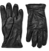 Sarna Leather Gloves in Black