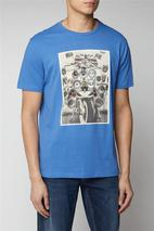 Scooter Print Tee in Blue