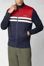 Colour Block Tricot in Red and Navy