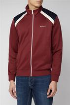 Tricot Shoulder Panel Sweat Top in Red