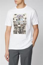 Scooter Print Tee in White