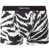 Zebra-Print Stretch-Cotton Jersey Boxer Briefs in White and Navy