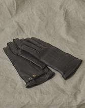 MARKHAM LEATHER GLOVES in Black