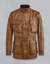 TRIALMASTER PANTHER LEATHER JACKET in Brown