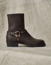 HARD RIDER LEATHER BOOTS in Brown