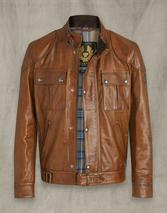 GANGSTER 2.0 LEATHER JACKET in Brown