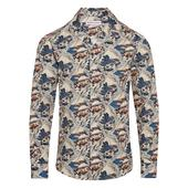 Giles Poplin Summer Scene Tailored-Fit Shirt in Multicoloured