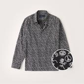 Lightweight Button-Up Shirt in Grey