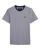 Stripe T-Shirt in White and Navy