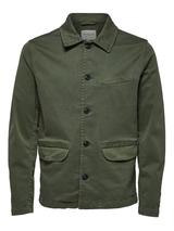 Organic Cotton Worker Jacket in Green