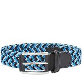Anderson's Woven Textile Belt in Navy and Blue