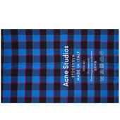 Acne Studios Cassiar Check Scarf in Red and Navy