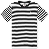 AAPE One Point Mini Stripe Tee in Black and White