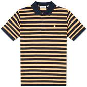 Carhartt WIP Oakland Polo in Yellow and Black