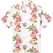 Carhartt WIP Hawaiian Floral Vacation Shirt in White