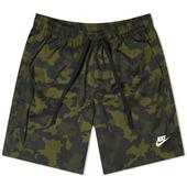 Nike Woven Camo Short in Green and Black