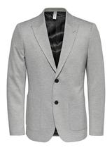 Single Breasted Casual Blazer in Grey