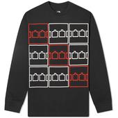 The Trilogy Tapes Multi Logo Long Sleeve Tee in Black