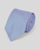 Silk Classic Spot Tie - Royal Blue in Blue