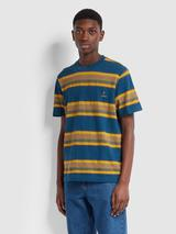 Farah X YMC Alexis T-Shirt In Sailor Blue in Multicoloured