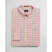 Regular Fit 3-Color Gingham Broadcloth Shirt in Yellow