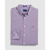Regular Fit Preppy Check Oxford Shirt in Red